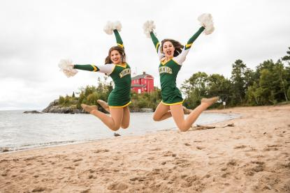 Two female NMU dance team student athletes