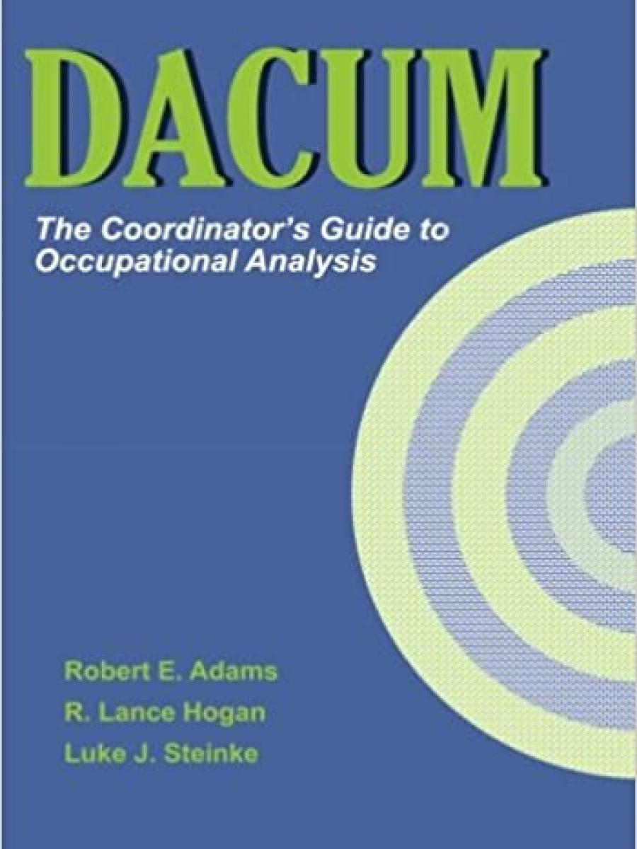 Cover of DACUM: The Coordinator's Guide to Occupational Analysis.