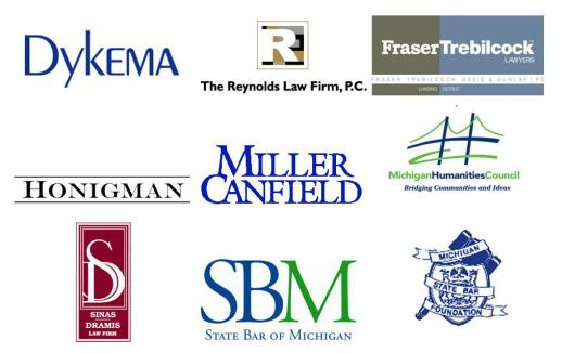 State Bar of Michigan Logo Sponsor Logos