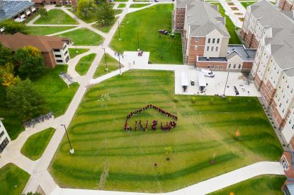 resident advisers spell out LiveUp