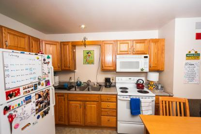 On-Campus Apartment Kitchen