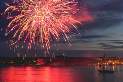 Fireworks over Marquette's Lower Harbor