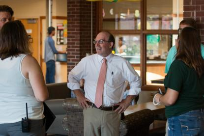 President Erickson on Move In Day