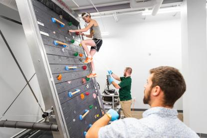 Sports science rock wall treadmill research