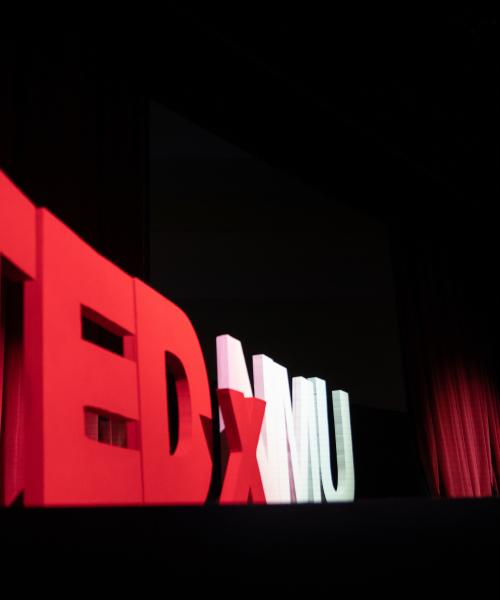 Student presenting at TEDxNMU