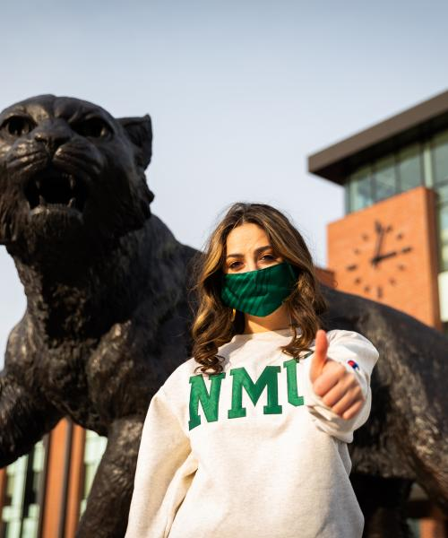 Northern Michigan University, Maisie Zahn, Sports Science major, COVID, safety