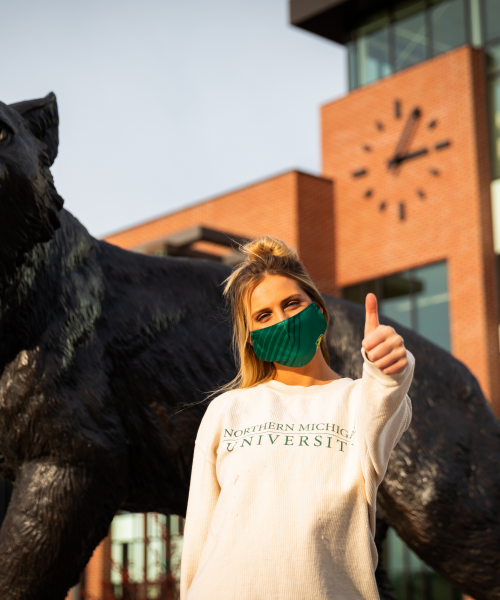 It was great to be face-to-face in the fall semester. NMU made it safe and comfortable.