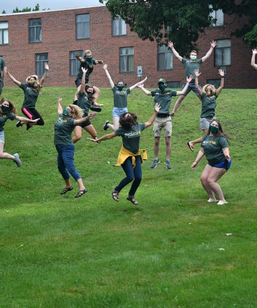 CSE Staff Jumping Photo